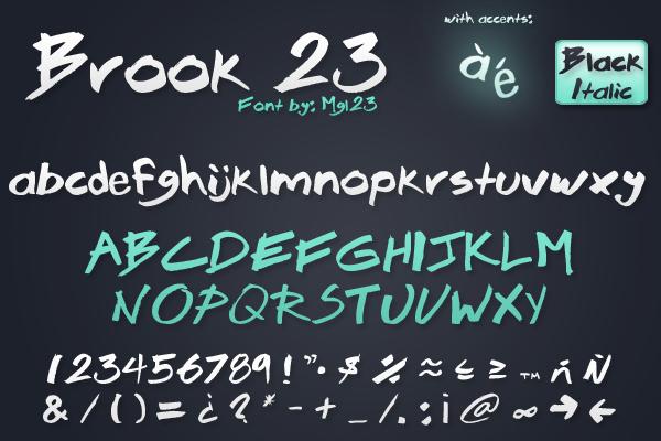 Brook 23 - Font