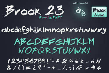 Brook 23 - Font by Mgl-23