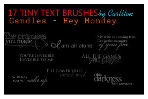 17 tiny text brushes by Carllton