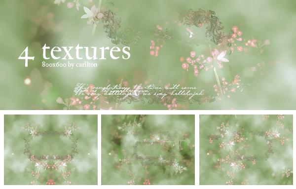 4 textures 800x600 : 3 by Carllton