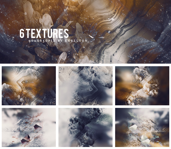 6 textures 900x650 : 50 by Carllton