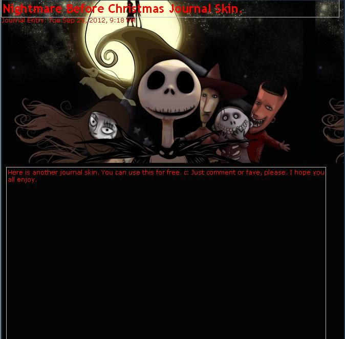 Nightmare Before Christmas Journal Skin by GrimAsEver