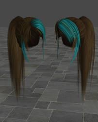 Sarah hairstyle ponytail mod version by ToshiieKyoko