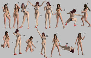 Pack de poses 16 - poses by ToshiieKyoko