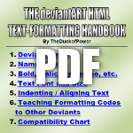 The deviantART HTML Text-Formatting Handbook by TheDuckofPower
