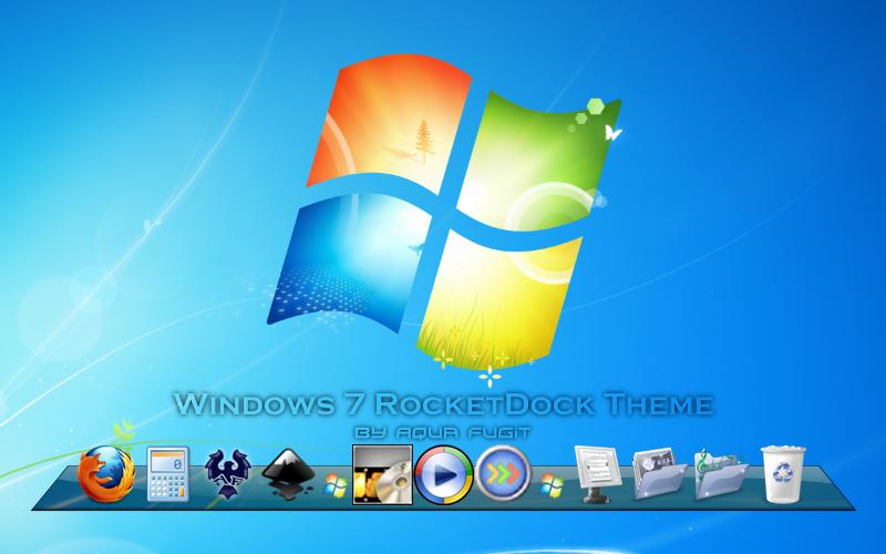Windows 7 - RocketDock Skin by AquaFugit