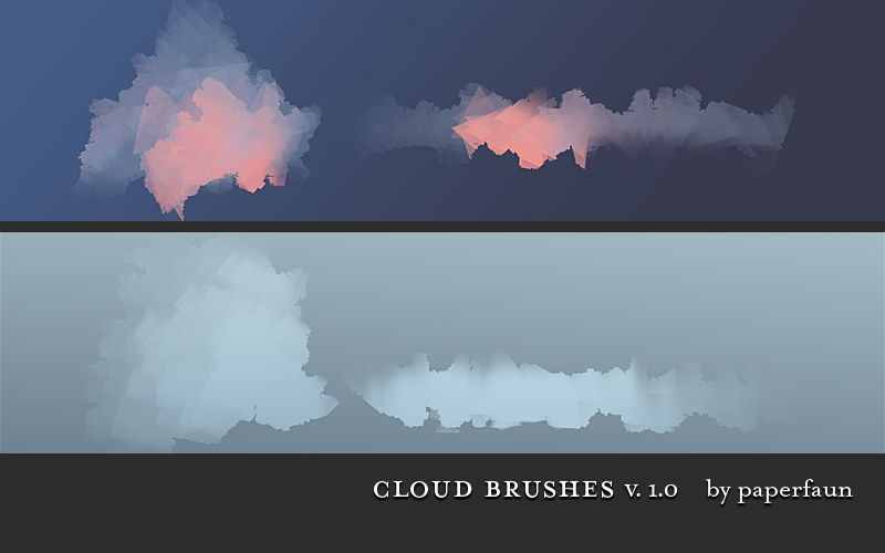 Cloud Brushes by PaperFaun