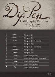 Dip Pen Brushes by PaperFaun