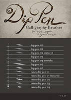 Dip Pen Brushes by PaperFaun