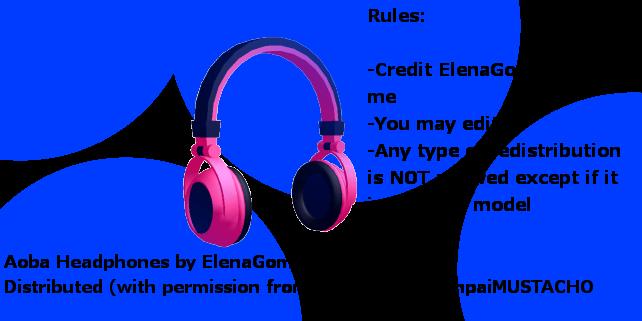 MMD Aoba's Headphones for DL