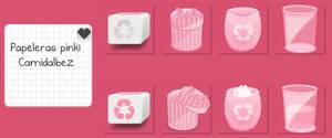 Papeleras de reciclaje - Pinkicons