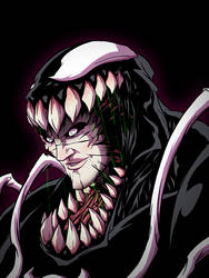Venom Eddy Head Colored by Anny-D