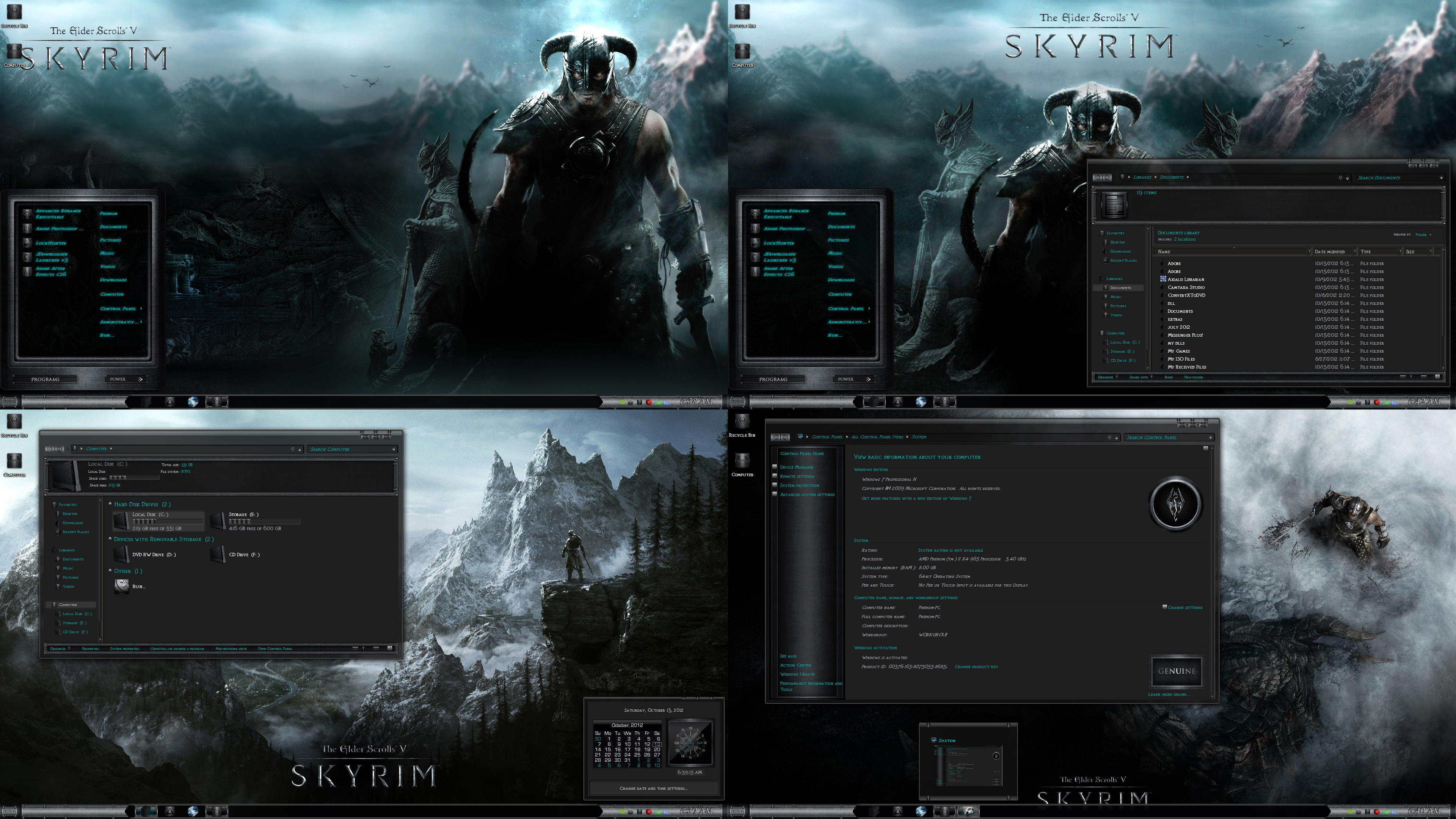 Skyrim Cold Steel Theme suite by R0ck-n-R0lla1