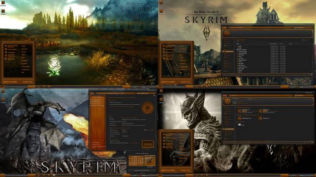 Skyrim Elder Scrolls Wood Theme suite