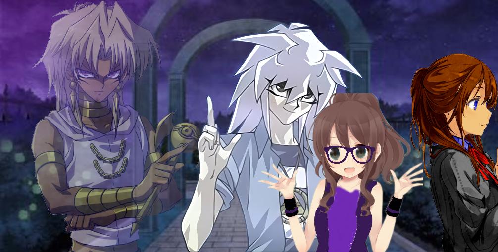 Marik, Bakura, Rina and May by yamimariklover14