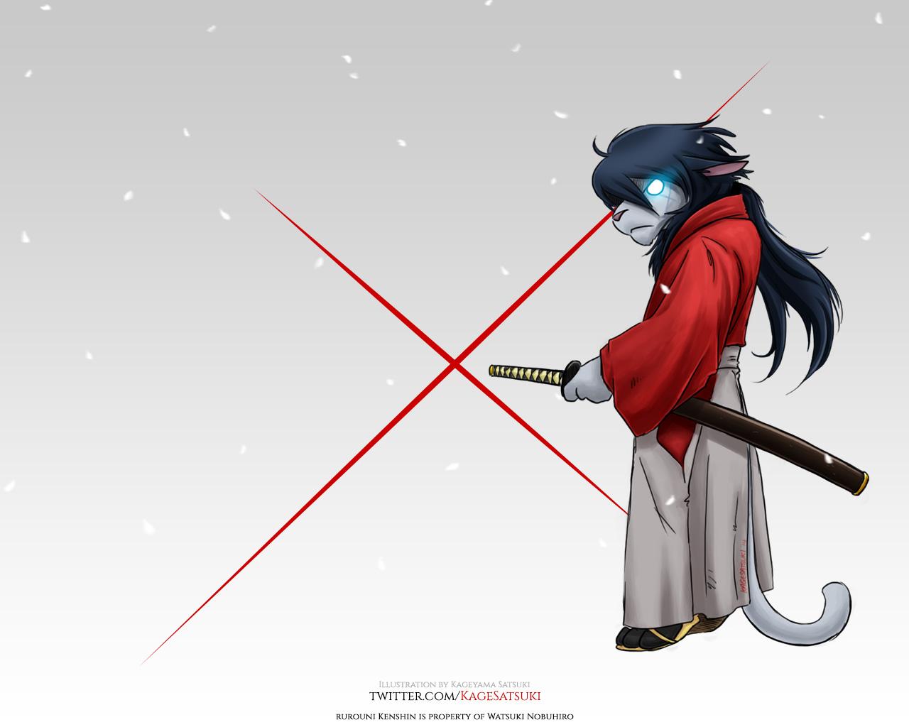Derpkitty x Kenshin Wallpaper