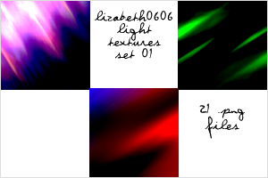 Light Texture Set 01 by lizabeth0606