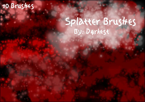 Splatter Brushes by d4rkest