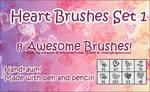 Photoshop Heart Brushes Set 1