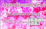 Photoshop Heart Brushes Set 2