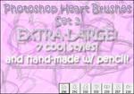Photoshop Heart Brushes Set 3
