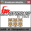 Brown Fox Emoticons Set by d4rkest