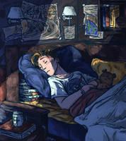 Sleep Spaceman,Sleep and Dream of your Stars [GIF] by LenleG