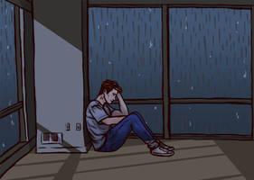 It's Raining Outside John [GIF] by LenleG