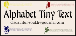 Alphabet Tiny Text Brushes by disdainful-soul