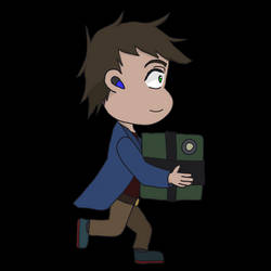 Daring Captain Mac Carrying Luggage Simple