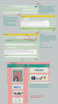 How To use custom box to customize your proflie
