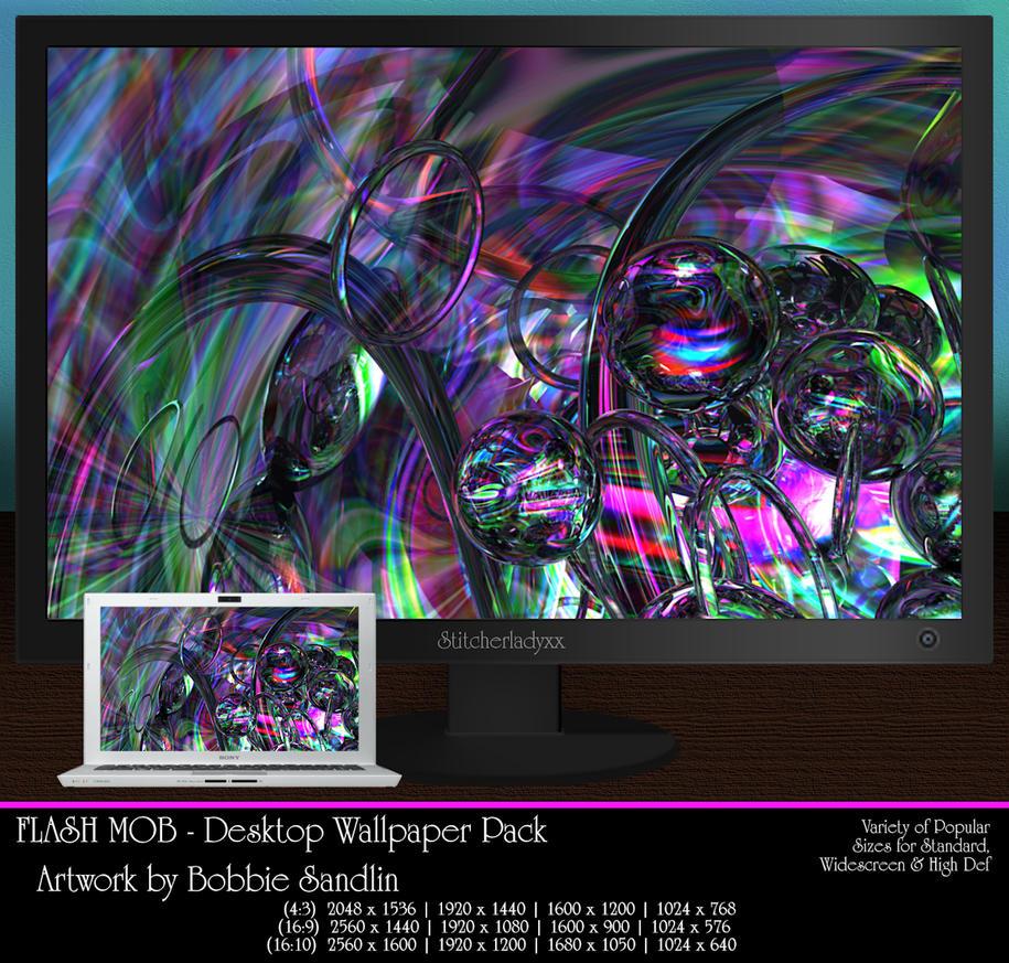 FLASH MOB - Wallpaper Pack by StitcherLadyxx
