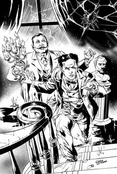 Conan Doyle and Houdini in The Spook House