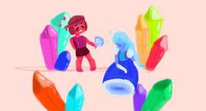 Ruby And Sapphire  by CastlePrince