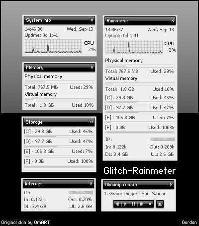 Glitch - Rainmeter by Gordanj