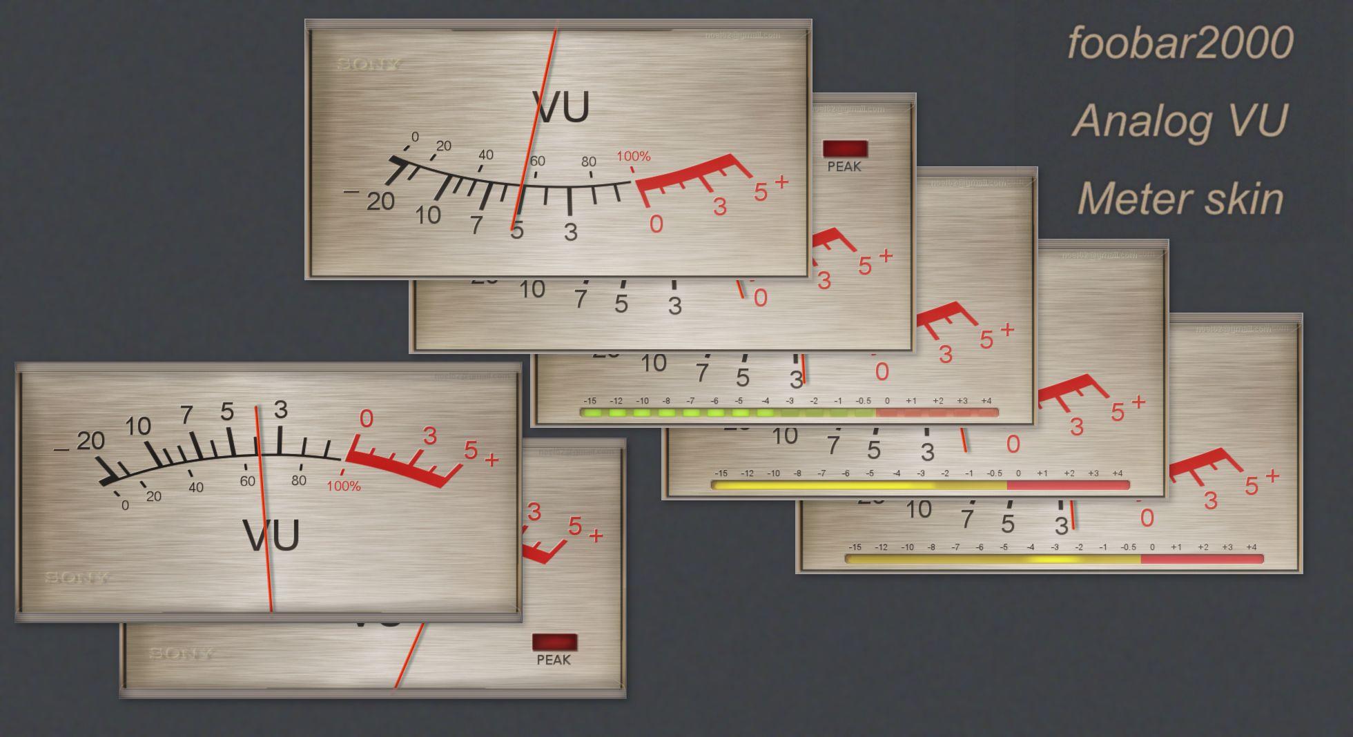SONY TC-2xxx Analog VU Meter Plugin for foobar2000 by noel62