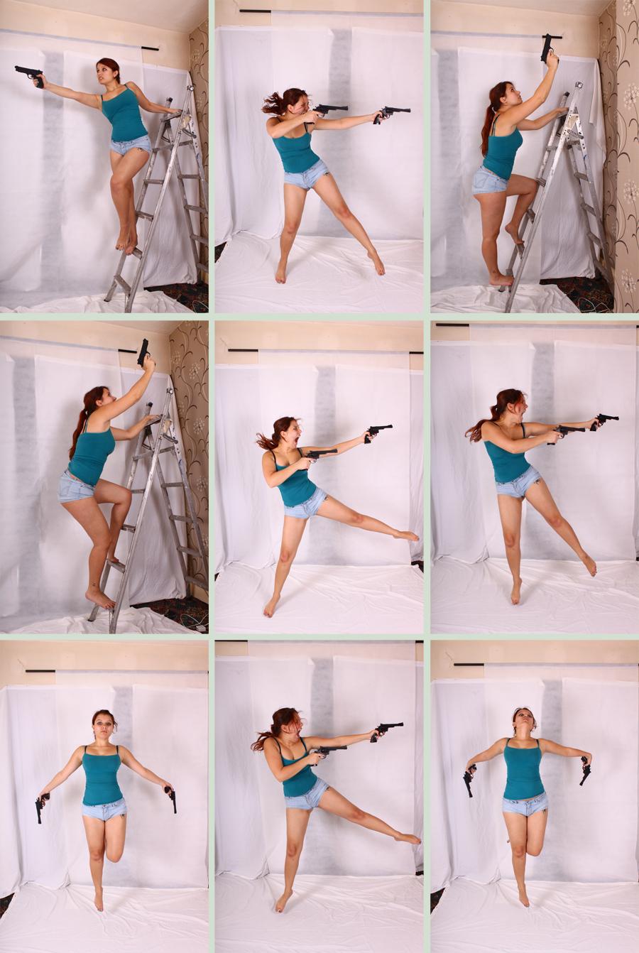 Gun Poses 2 by Tasastock