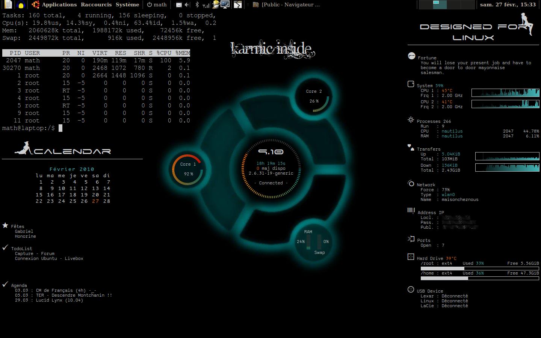 Conky - Lua Ubuntu by Fenouille84