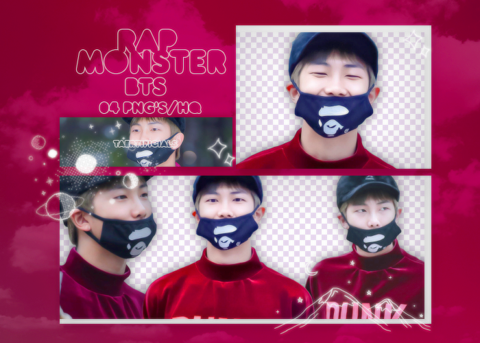 Rap Monster (BTS) | PNG PACK #32 by taertificials