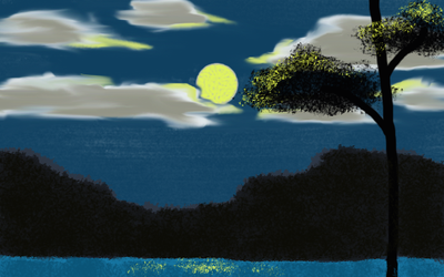 Night LandScape Painting by dhamphir363