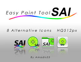 Paint Tool Sai Alternative icons by amadis33