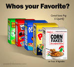 Cereal Flakes Boxes Icons