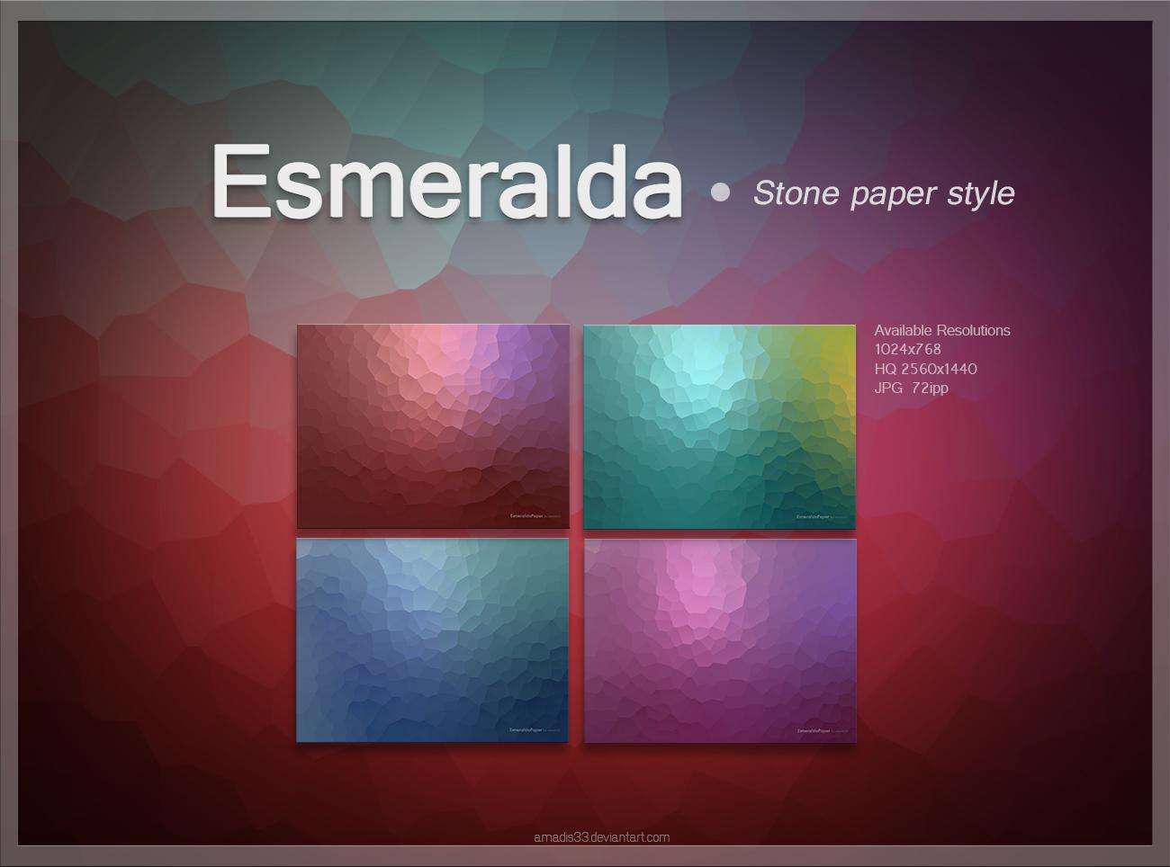 Esmeralda Stone Paper by amadis33