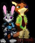 Judy and Nick Disney infinity style