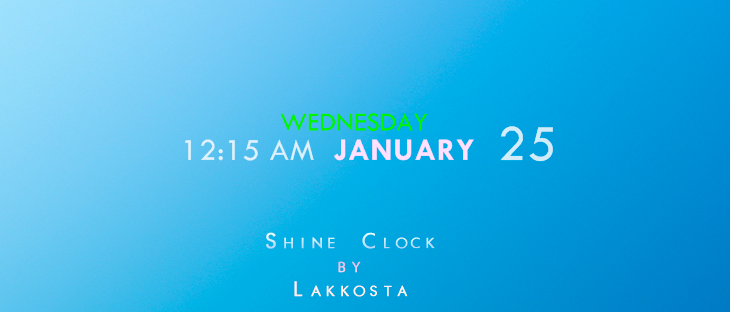 Shine Clock and Date by LaKkosta