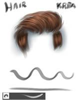 Hairbrush krita by eldavid99