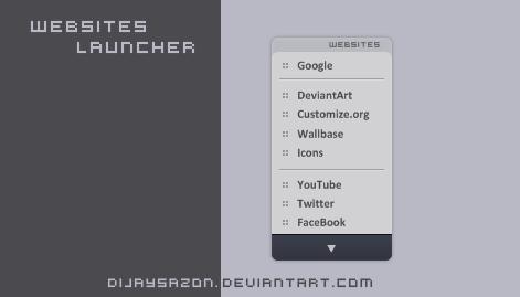 Websites launcher by DijaySazon