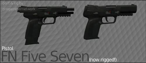 FN Five Seven Pistol (UPDATED!) (Rigged) by ProgammerNetwork