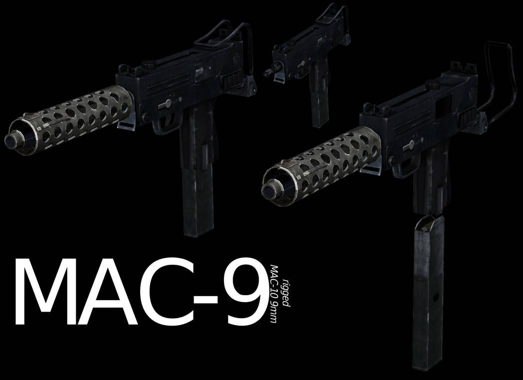 MAC-9 (9mm MAC-10) - Rigged by ProgammerNetwork on DeviantArt