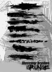 Illustrator Grunge Brushes by themeatgrinder